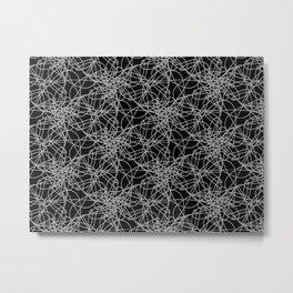 line art black pattern Metal Print