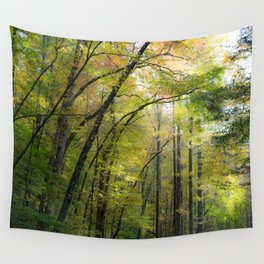 Trees in October Wall Tapestry