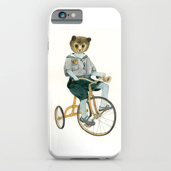 Bear on a Tricycle iPhone & iPod Case