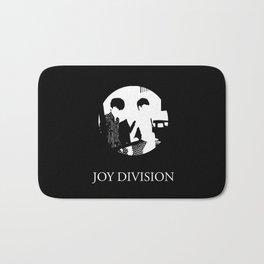 JOY DIVISION - Music | Goth | Indie | Wave | Retro | Vintage | Vector | Black and White | Vinyl  Bath Mat