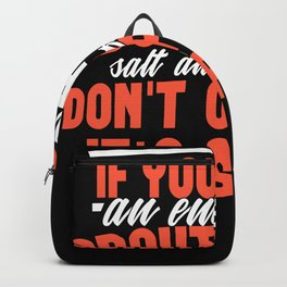 Bacon Spam funny shirt design Backpack