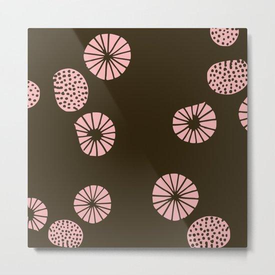 Dandelion flying brown Metal Print