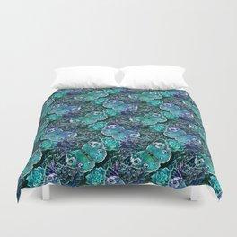 Butterflies In Blue Duvet Cover