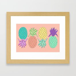 pineapple large coral Framed Art Print