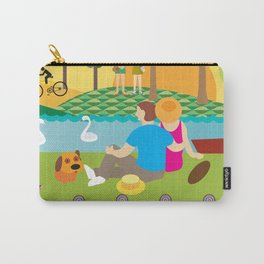 The creek at sunset  Carry-All Pouch