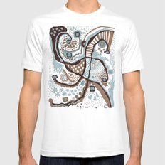 Crowded land  White Mens Fitted Tee MEDIUM