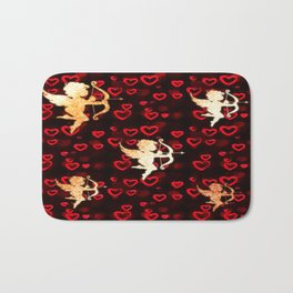 Cupids and Hearts Bath Mat