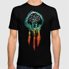 Dream Catcher (the rustic magic) MEDIUM Mens Fitted Tee Black