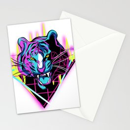 Neon Tiger Stationery Cards