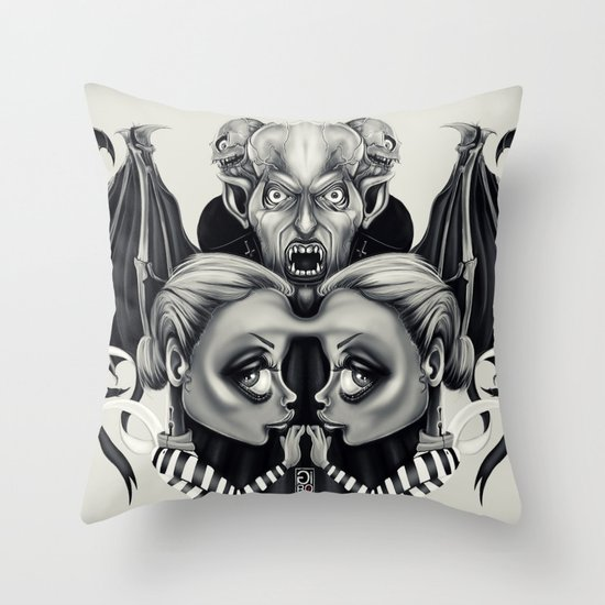 """Tattoeums VII"" Throw Pillow"