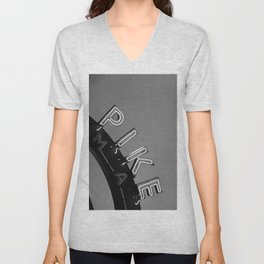 Seattle Pike Place Market Black and White Unisex V-Neck