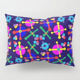 Outer Space Jacks Navy Pillow Sham