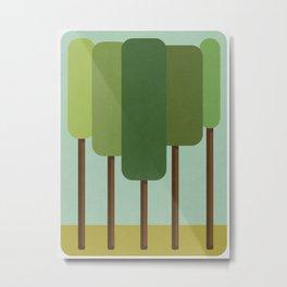 Green Summer Forest Metal Print