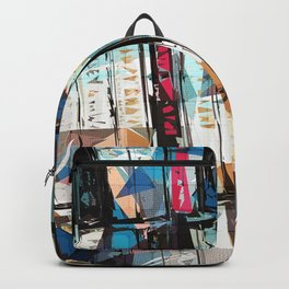 Musical Cassette Tapes Collage Backpack