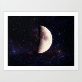Violet Moon Art Print