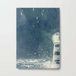 Watercolor Lighthouse Metal Print