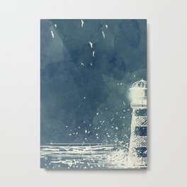 Watercolor Lighthouse Metal Print