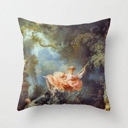 Jean-Honoré Fragonard - The Swing Throw Pillow