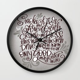 Witchy Blessing Wall Clock