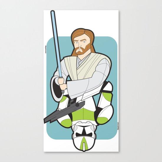 Obi-wan and Clone Trooper Canvas Print