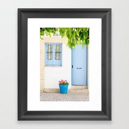 Blue and light Framed Art Print
