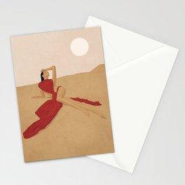 Warm Dune Sand Stationery Cards