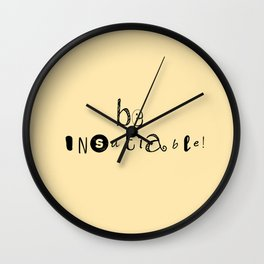insatiable! y. Wall Clock