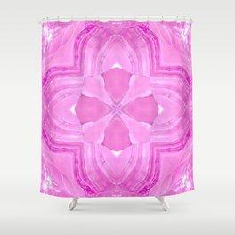 Jade Agate Stone Flower Fuchsia Shower Curtain