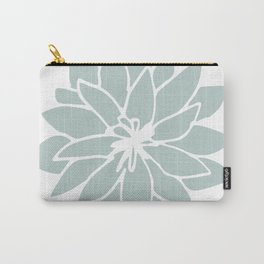 Flower Forest Fern Green on White Carry-All Pouch