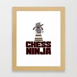 Birthday Ninja Party Samurai Ninjas Gift Japanese Ninja Chess ninja Framed Art Print