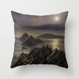 Facing The Ocean Throw Pillow