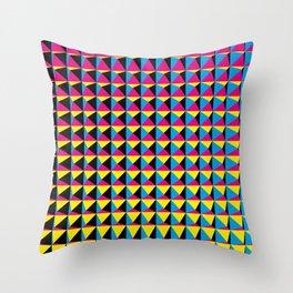 Pyramids - Geometric art Throw Pillow