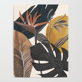 Abstract Tropical Art III Poster