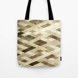 Abstract Pattern in Brown Tote Bag