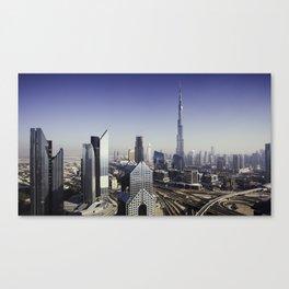 Dubai sky line. Canvas Print