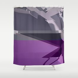 Abstract Glitch 01 Shower Curtain