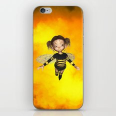 Little Bee Girl Golden Clouds iPhone & iPod Skin