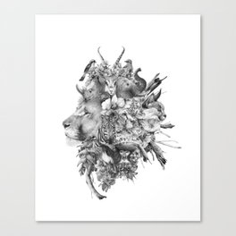 Kingdom of Monarchs (Black and White Version) Canvas Print