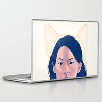 kitsune Laptop & iPad Skins featuring Kitsune by days & hours
