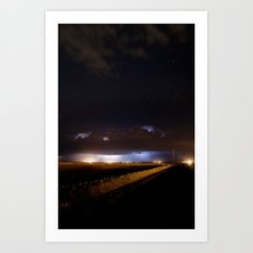 Lighting and the Stars Art Print