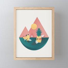 The Tropics Framed Mini Art Print