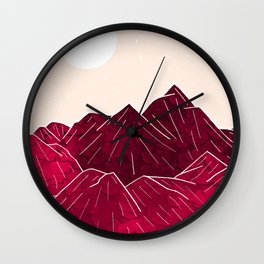 Ruby Mountains Wall Clock