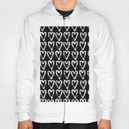 Black & White-Love Heart Pattern-Mix & Match with Simplicty of life Hoody