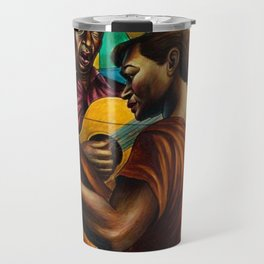 African-American 1951 Classical Masterpiece 'Gospel Singers' by Charles White Travel Mug
