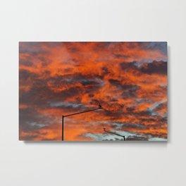 Sunset Surveillance Metal Print