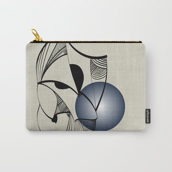 Abstract L1 Carry-All Pouch
