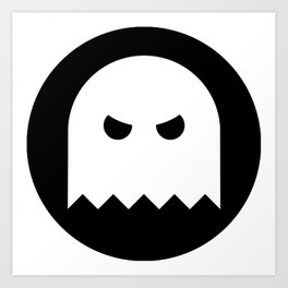 Halloween Ghost Ideology Art Print