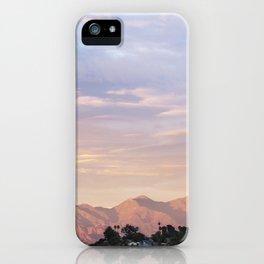 Sunset over Saddleback Mountain iPhone Case