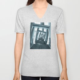 Stairs And Pillars Unisex V-Neck