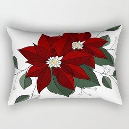 Nochebuena Poinsettia Rectangular Pillow
